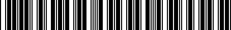 Barcode for MHE3985BAX